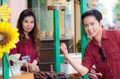 De tienerminnaars genieten van in Thailand Stock Afbeelding