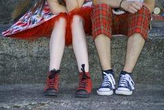 De tieners Stock Foto's
