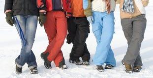 De tieners van de sport op sneeuw royalty-vrije stock foto