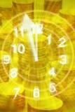 De tijd is de Achtergrond van het Geld vector illustratie