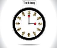 De tijd is de Illustratie van het Geldconcept Stock Foto