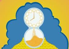 De tijd is geld. vector illustratie