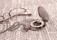 De tijd is Geld stock foto