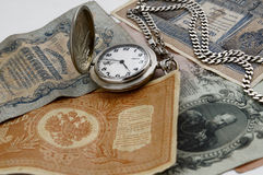 De tijd is geld, concept stock afbeelding