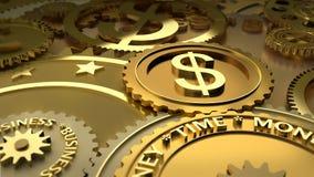 De tijd is geld. de hoogtepunten van de dollarmunt. Royalty-vrije Stock Fotografie