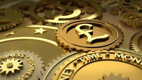 De tijd is geld. de hoogtepunten van de pondmunt. Stock Foto