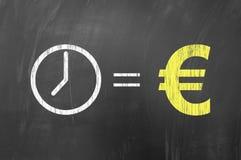 De tijd is geld, Europees concept Royalty-vrije Stock Foto