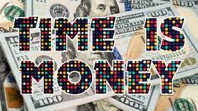 De tijd is Geld Grafische 008 - Witte Achtergrond stock afbeeldingen