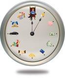 De tijd is geld *** kan de wijzer plaatsen aangezien bleek u Stock Foto's