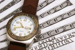 De tijd is geld upclose royalty-vrije stock afbeelding