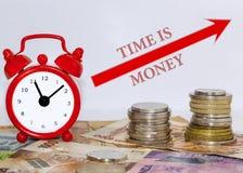 De tijd is geldconcept royalty-vrije stock afbeeldingen