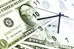 De tijd is geldconcept Stock Foto's