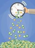 De tijd is geldconcept stock illustratie
