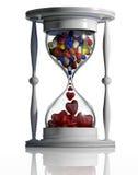 De tijd heelt. Stock Foto's