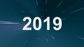 De tijd loopt uit Jarenverandering Terug naar de toekomst 21 stock illustratie