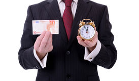 Euro tijd Royalty-vrije Stock Afbeelding