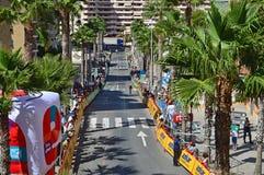 2016 de Tijd proeftt van La Vuelta España Cursus Royalty-vrije Stock Foto's