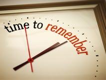 De tijd ro herinnert zich Stock Fotografie
