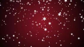 De tijd sneeuwvlok van achtergrondanimatiekerstmis stock footage