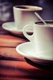 De tijd van Coffe Stock Foto's