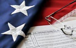 De Tijd van de belasting - 15 de Uiterste termijn van April. Stock Afbeeldingen
