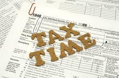 De Tijd van de belasting Stock Fotografie