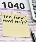De tijd van de belasting. Stock Foto's