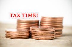 De tijd van de belasting Royalty-vrije Stock Fotografie