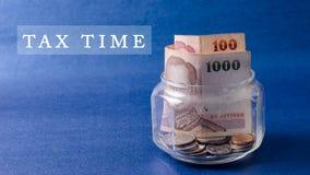 De tijd van de belasting Stock Foto's