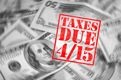 De Tijd van de belasting Stock Afbeeldingen