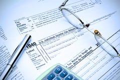 De Tijd van de belasting opnieuw Stock Afbeelding