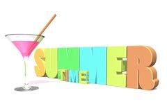 De tijd van de de zomercocktail Stock Foto's