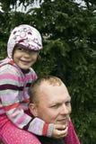 De tijd van de familie in Rotsachtige Bergen Royalty-vrije Stock Afbeeldingen