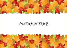 De tijd van de herfst Stock Fotografie