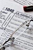 De Tijd van de Inkomstenbelasting Stock Fotografie