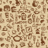 De tijd van de koffie, naadloze achtergrond voor uw ontwerp Royalty-vrije Stock Afbeelding