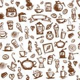 De tijd van de koffie, naadloze achtergrond voor uw ontwerp vector illustratie