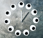 De tijd van de koffiekop Royalty-vrije Stock Foto's