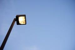 De tijd van de lantaarnpaalmiddag Stock Foto's