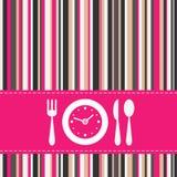 De tijd van de lunch Stock Foto's