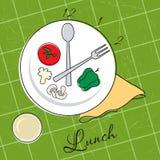 De tijd van de lunch stock illustratie