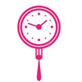 De tijd van de lunch vector illustratie