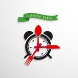 De tijd van de lunch Stock Foto