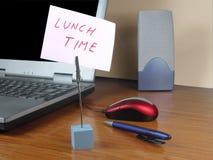 De tijd van de lunch op het kantoor stock fotografie