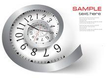 De tijd van de oneindigheid. Vector illustratie Stock Foto