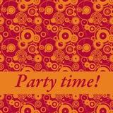 De tijd van de partij! royalty-vrije illustratie