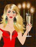 De tijd van de partij met champagne Stock Afbeelding