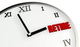 De Tijd van de pensionering Stock Afbeelding