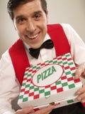 De tijd van de pizza. stock fotografie
