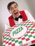 De tijd van de pizza. stock foto's